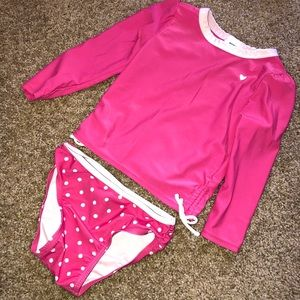 Two piece toddler swimsuit